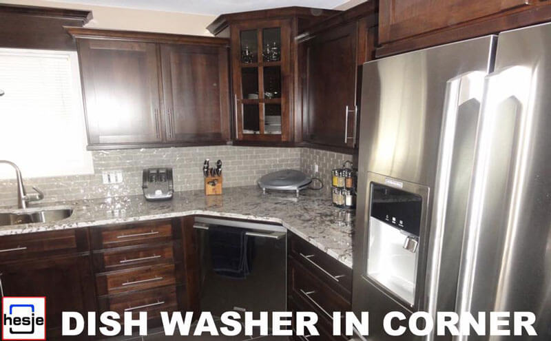 Dish washer in corner